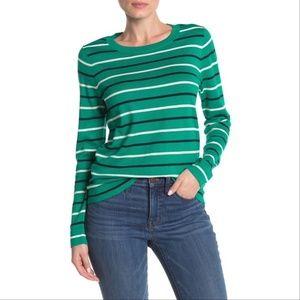 NWT J. Crew Stripe Print Pullover Sweater M
